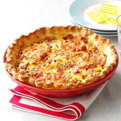 Tomato pie-----great idea when all of the tomatoes ripen at the same time !!!   (Can use ready-made pie crust)