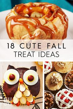 This year, we're giving plain pumpkin pie a super-cute update to make it even more tempting. These adorable desserts celebrate everything we love about fall. Cute Desserts, Fall Desserts, Fall Treats, Autumn Theme, Acorn, Fall Recipes, Doughnut, Pumpkin, Sweets
