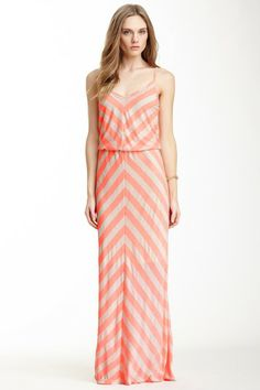 S.H.E. Mitered Striped Maxi Dress by S.H.E. on @HauteLook- looking forward to warmer days