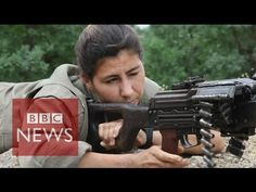 """Kurdish & Yazidi women fighting ISIS - BBC News  """"An Iraqi woman gunned down the ISIS terror chief who forced her into sex slavery, it has been reported."""