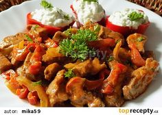 Chilli nudličky z krkovice s tzaziky recept - TopRecepty.cz Paleo, Pork, Food And Drink, Treats, Chicken, Ethnic Recipes, Sweet, Kale Stir Fry, Sweet Like Candy