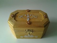 Diamonds And Gold theme Ring Bearer Box by TrulyUniqueBouquets