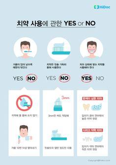 치약 사용에 관한 YES or NO