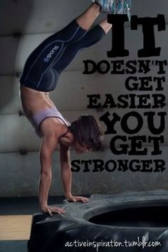 A positive way to view change - empower yourself to realize it's your hard work that is making the workouts get easier.