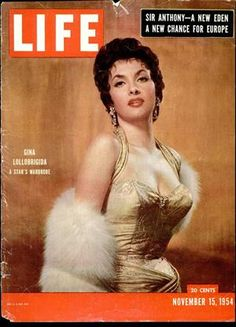 If you were born in 1954, the most popular Italian/International actress was Gina Lollobrigida -