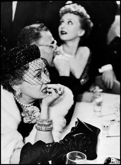 Gloria Swanson anxiously awaits the announcement of Best Actress at the 23rd Academy Awards