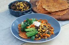 Hemlagade glutenfria tortillabröd och tacoköttfärs utan tillsatser
