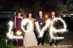 Happy Fourth of July! | A Wedding Night with Fireworks and Sparklers / see more at www.truephotographyweddings.com