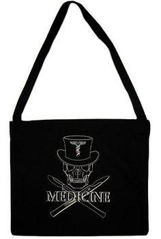Medicine Skull Tote Bags