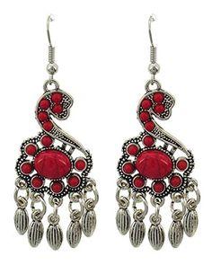 Trendy Fashion Chandelier Dangle Antique Silver Coral Stone Earring / AZERVR842-ARD Arras Creations http://www.amazon.com/dp/B00SC4A5LA/ref=cm_sw_r_pi_dp_P2n7ub0B7YZBR