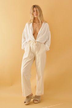 Woven Cotton Trousers Vintage, Boheme Goods www.bohemegoods.com