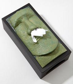 idea, easter island, box 20, freaki tiki, funni, tissue boxes, design, tissu box, tiki tissu