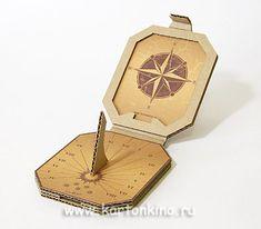 Как сделать солнечные часы из картона