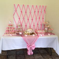 Pink Hello Kitty dessert table