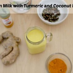 Our Golden Milk Recipe made with Turmeric and Coconut Milk helps with colds, flus, depression, and more! Turmeric is a healing root you want in your diet. Water Recipes, Milk Recipes, Detox Recipes, Detox Foods, Juice Recipes, Yummy Drinks, Diet Drinks, Refreshing Drinks, Cold Drinks