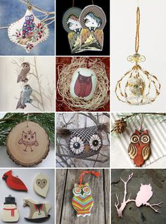 My Owl Barn: Owl Ornament Roundup
