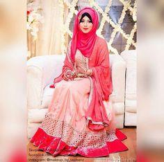 Hijabi Bride Muslimah Wedding Dress, Pakistani Wedding Outfits, Muslim Wedding Dresses, Muslim Brides, Bridal Dresses, Muslim Couples, Bridal Hijab, Hijab Bride, Girl Hijab