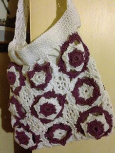Crocheted Shoulder bag by KathysCreativeCrafts on Etsy