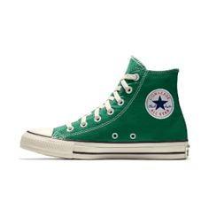 Green Converse High Tops, Colored Converse, Brown Converse, Cute Converse, Converse Shoes, Olive Green Converse, Platform Converse, Pastel Converse, High Top Converse Outfits