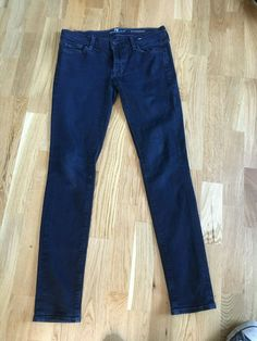 1ceb035a 7 For All Mankind Seven High Waist Roxanne dark denim skinny jeans W 30 12 L