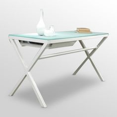 Nook Desk in White.  It has a contemporary look with some old fashion appeal.      http://www.thefoundary.com/invite/roysreceptive