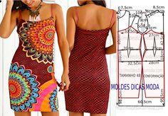 Vestido desigual primavera 2017 - Moldes Moda por Medida