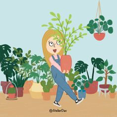 """Bought some new plants today! Would you like to see my plant """"collection""""? If yes, let me know below and I will make a special Plant story of my """"little babies""""🤓❤️ #characterdesign #character #characterart #characterillustration #characters #illustraties #illustratie #cartoon #cartoonart #cartoondrawing #cartoons #cartoonist #cartoonstyle #funnycartoons #funnycards #greetingcards #procreatedrawing #procreateartist #characterdesigner #charactermodeling #originalcontent #creatievelingen Character Modeling, Character Art, Character Design, Plant Illustration, Character Illustration, Cartoon Drawings, Cartoon Art, Plant Cartoon, Create Drawing"""