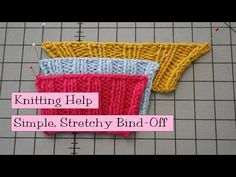 Simple Stretchy Bind-Off - VeryPink offers knitting patterns and video tutorials from Staci Perry. Short technique videos and longer pattern tutorials to take your knitting skills to the next level. Bind Off Knitting, Casting Off Knitting, Knitting Help, Knitting Videos, Easy Knitting, Knitting For Beginners, Knitting Stitches, Knitting Socks, Knitting Projects