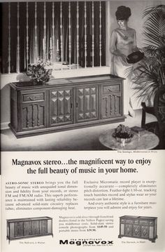 Magnavox, 1967:  When home entertainment was furniture