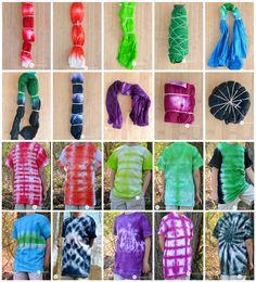 10 Vibrant Tie Dye T-Shirt Folding Techniques Tie Dye Folding Techniques, Fabric Dyeing Techniques, How To Tie Dye, How To Dye Fabric, Dyeing Fabric, Diy Tie Dye Shirts, Diy Shirt, Diy Tie Dye Designs, Tie Dye Tutorial