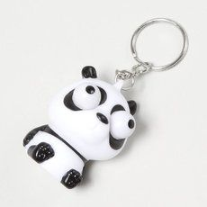 Pop Eyed Panda Keychain