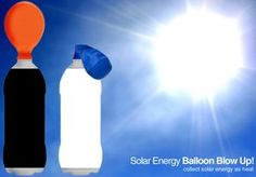 Explore the power of the suns heat by blowing up a balloon on a bottle! Kids paint one soda bottle white and the other black. Once dry, they attach a small balloon to the necks of their bottles. Then, they put the bottles out in the sun for a solar reaction!