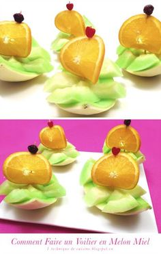 How to Make a Sailboat with a Honeydew Melon (check out the video)