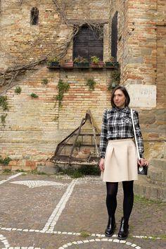 TARTAN SHIRT AND PINK SKIRT!  http://www.agoprime.it/tartan-shirt-pink-skirt/