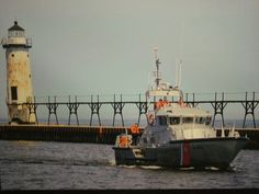 US Coast Guard Coming into The Port of Manistee