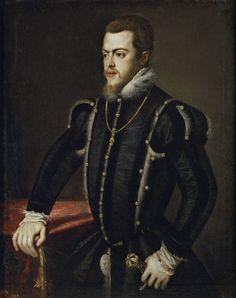 Anónimo (Taller de Tiziano, Vecellio di Gregorio). Felipe II, 1549 - 1550