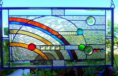"""Stained Glass Window Panel: ☼ """"Orbs and Orbits"""" ☼ 