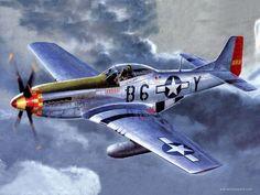 Patriotic War Aircraft Paintings of World War 2 Planes Paintings