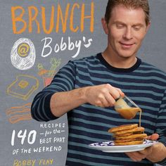 Williams-Sonoma's October 2015 Cooking Club features the new Bobby Flay book Brunch at Bobby's. Bobby Flay Brunch, Chef Bobby Flay, Bobby Flay Recipes, Brunch Recipes, Wine Recipes, Quiche Recipes, Flank Steak Salad, Savory Bread Puddings, Cast Iron Cooking