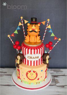Fisher Price Circus theme 1st birthday cake