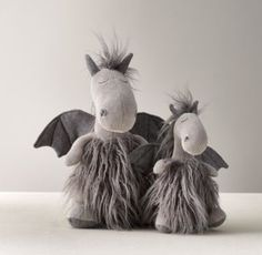 RH baby&child's Wooly Plush Dragon:A fine furry friend, designed with playful details every child will love, from the floppy legs and arms to the embroidered accents and lots of fun, different textures.