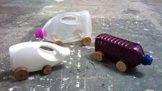 laundry detergent cars, DIY, upcycled, recycled, reuse,