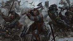 Zoltan's Company, Munro Bruys and Figgis Merluzzo, in the Battle of Brenna - wiedzmin The Witcher Books, The Witcher Game, Witcher Art, Sword Of Destiny, The Last Wish, Polish Films, Fantasy Dwarf, Fantasy Images, High Fantasy