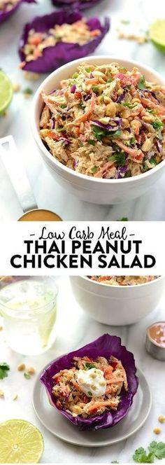 Low Carb Thai Peanut Chicken Salad!!! - Low Recipe