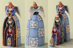 Nestled Holy Family Angel