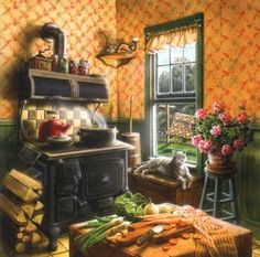 country kitchen. Anyone know the artist?
