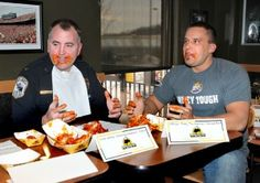 Onalaska police holding Wednesday fundraiser at Buffalo Wild Wings. Officers from several departments compete in a wing eating contest.