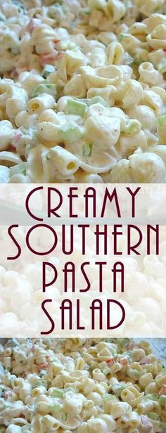This one is, in my opinion, the best Creamy Southern Pasta Salad. Guaranteed to be a hit at potlucks and picnics or a simple weeknight meal. #pastasalad #sidedish #potluckrecipe