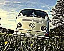 LIMITED EDITION PRINT picture FROM ORIGINAL ARTWORK Classic Vintage VW CAMPER