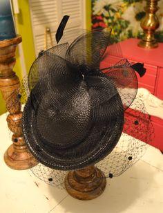 Black Veil Pill Box Hat by LetThemEatCakeLA on Etsy, $45.00